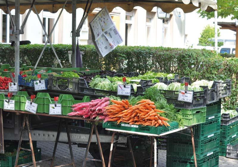 Bauernmarkt Freiburg-Mooswald Anbieter Karl Hornecker