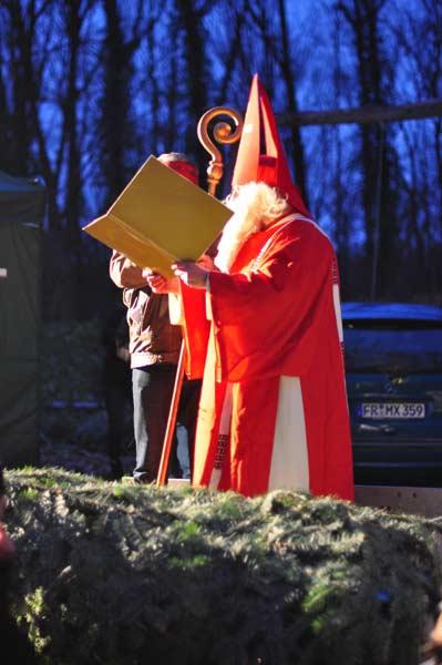 Der Bürgerverein Freiburg Mooswald empfängt den Nikolaus