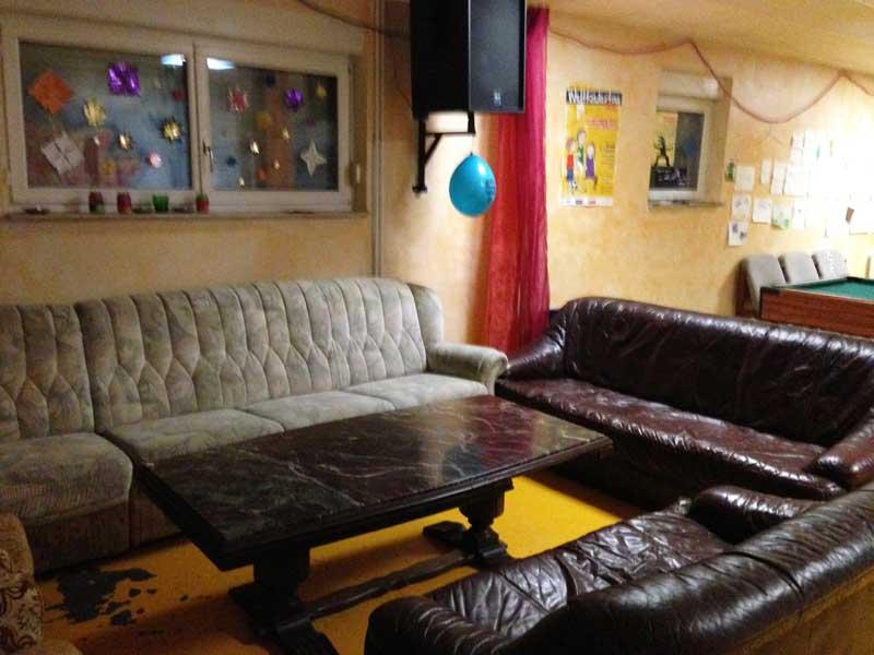 Sofa-Ecke zum Chillen im Chill