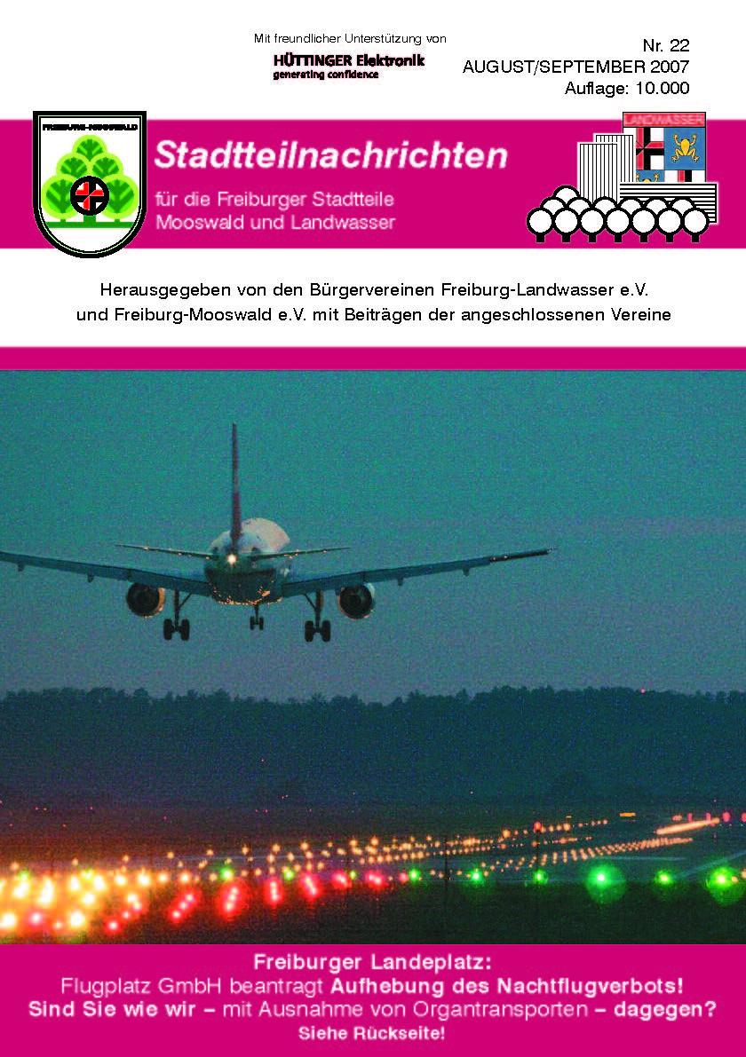 Stadtteilnachrichten Heft 22 Bürgerverein Freiburg Mooswald