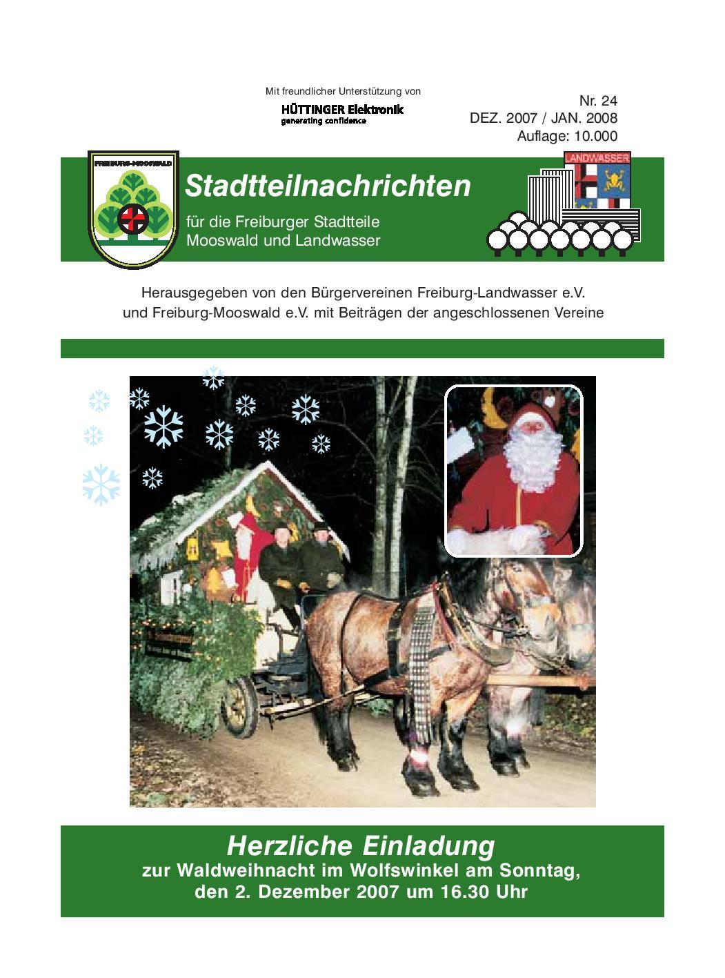 Stadtteilnachrichten Heft 24 Bürgerverein Freiburg Mooswald